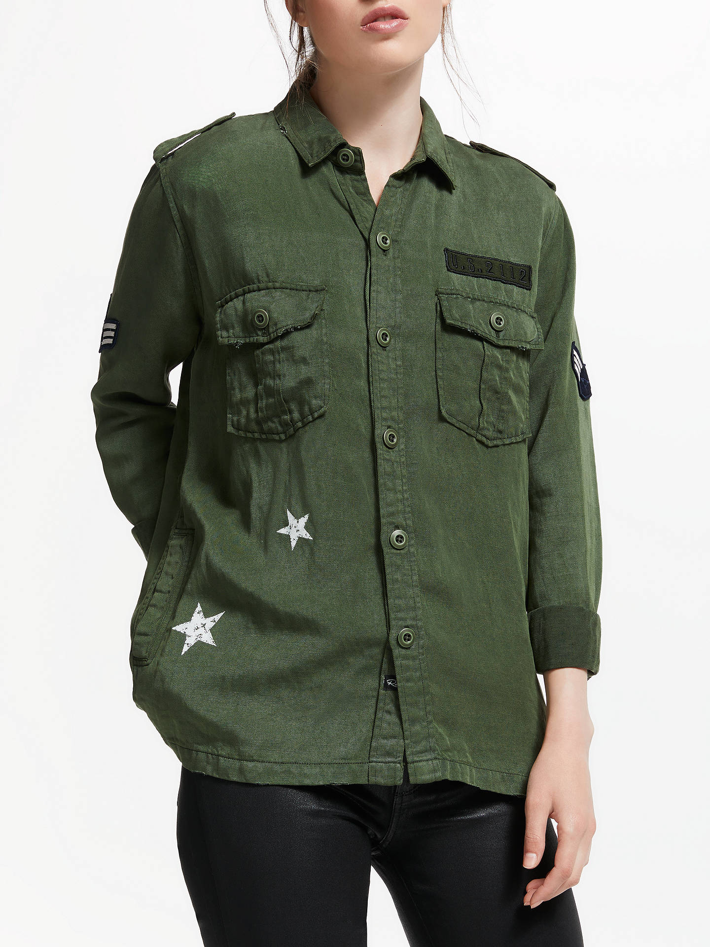 Buy Rails Kato Jacket, Military Green, S Online at johnlewis.com