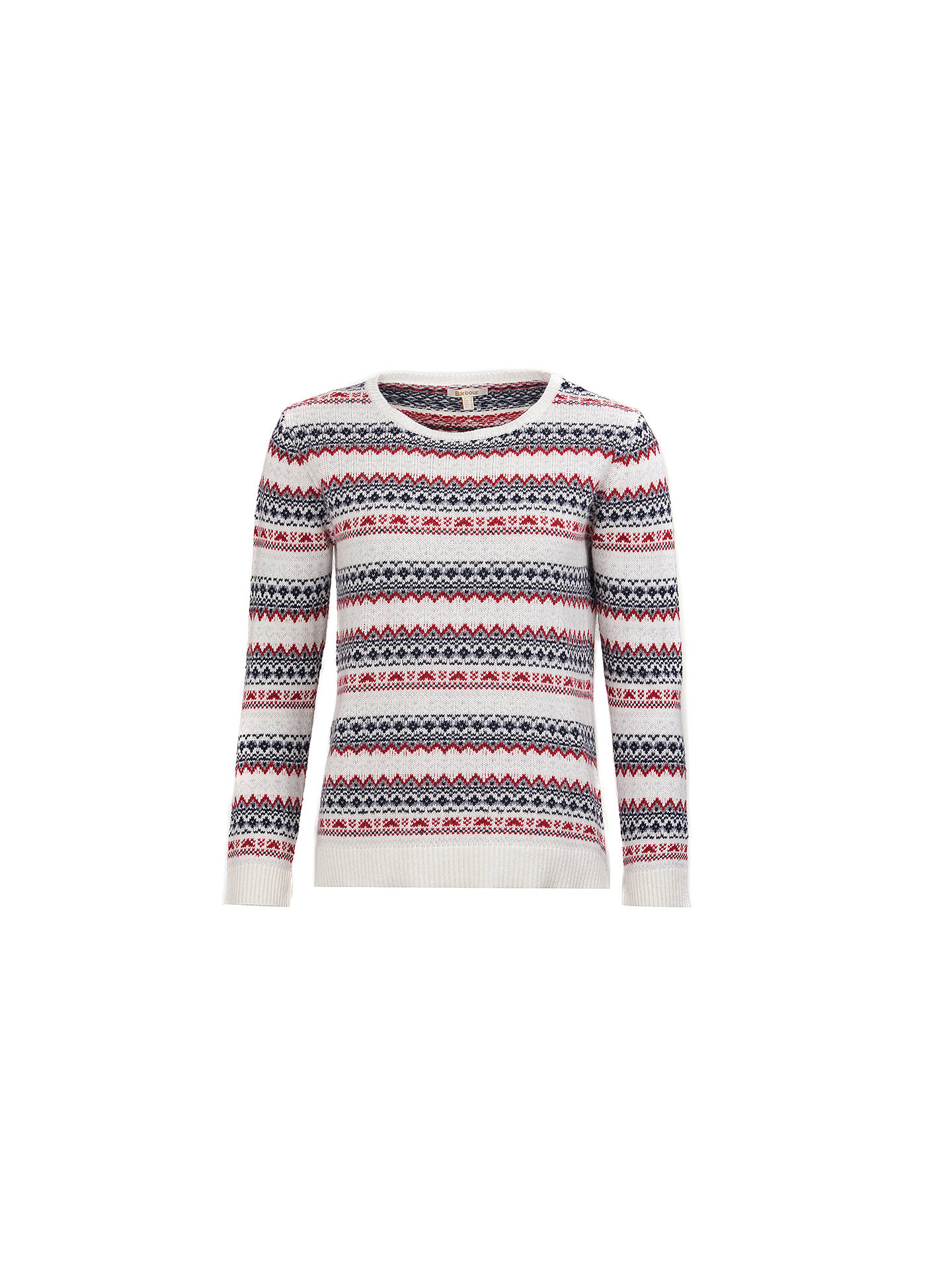 BuyBarbour Roseberry Fair Isle Jumper, Chilli Red, 8 Online at johnlewis.com