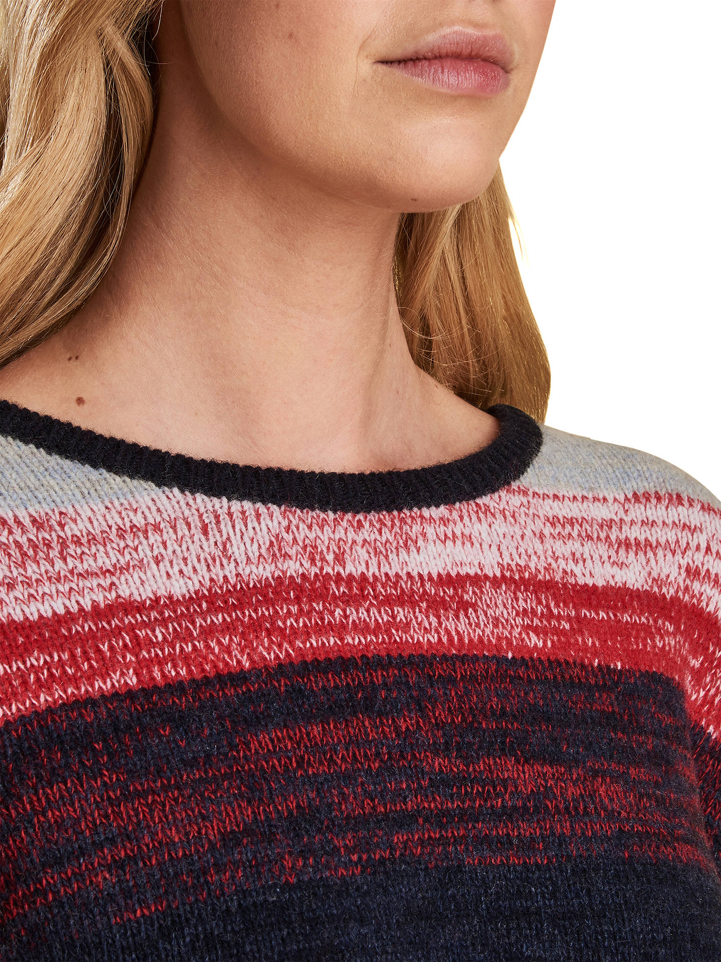 BuyBarbour Rhossili Stripe Jumper, Navy/Multi, 8 Online at johnlewis.com