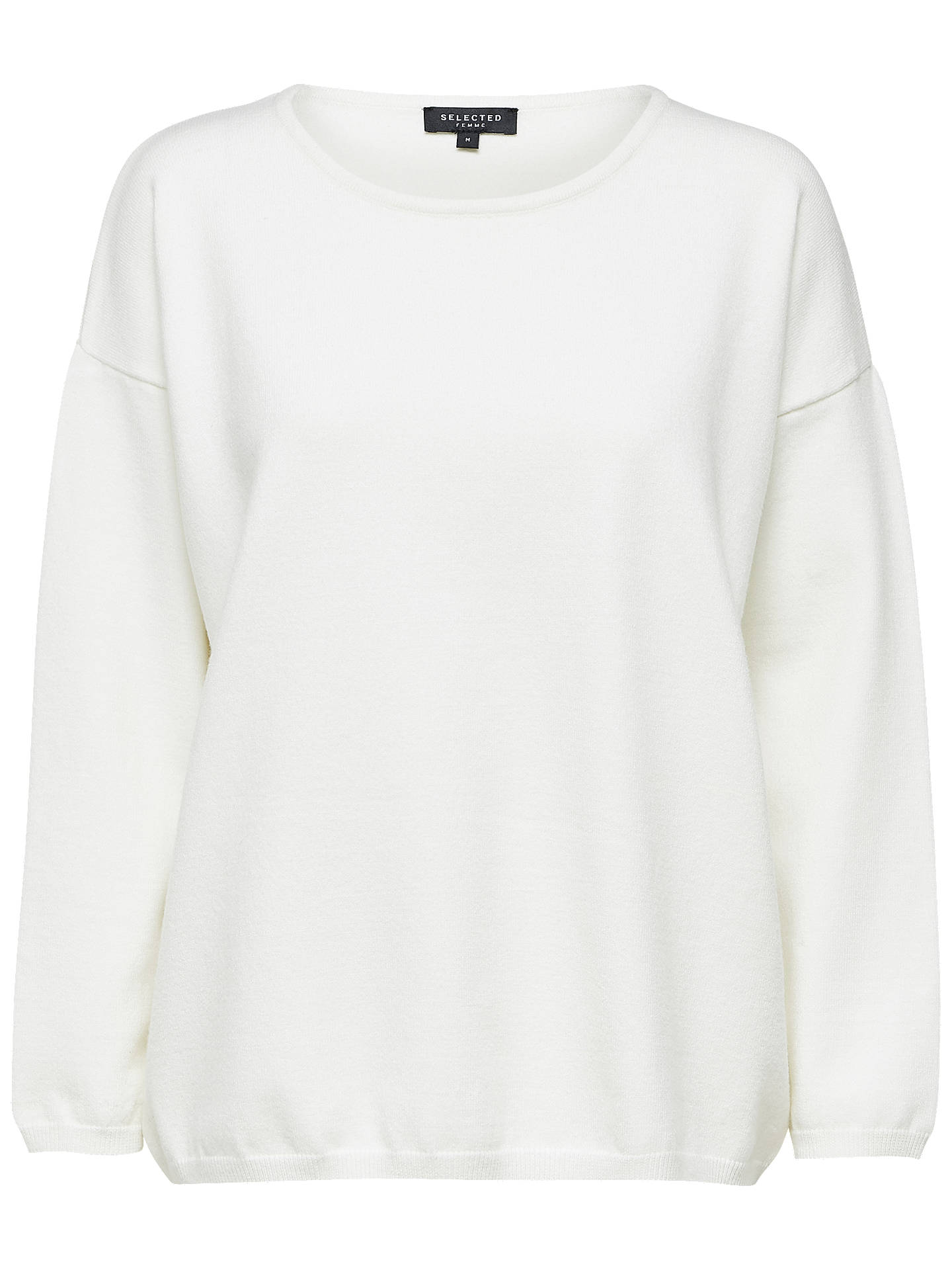 BuySelected Femme Minna Top, Snow White, XS Online at johnlewis.com