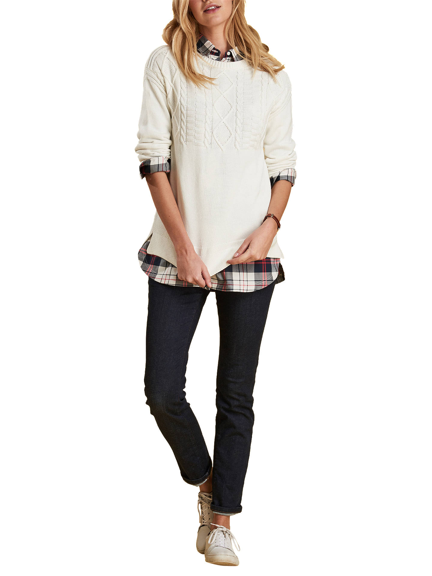 BuyBarbour Sandbank Tunic Shirt, Navy/White, 8 Online at johnlewis.com
