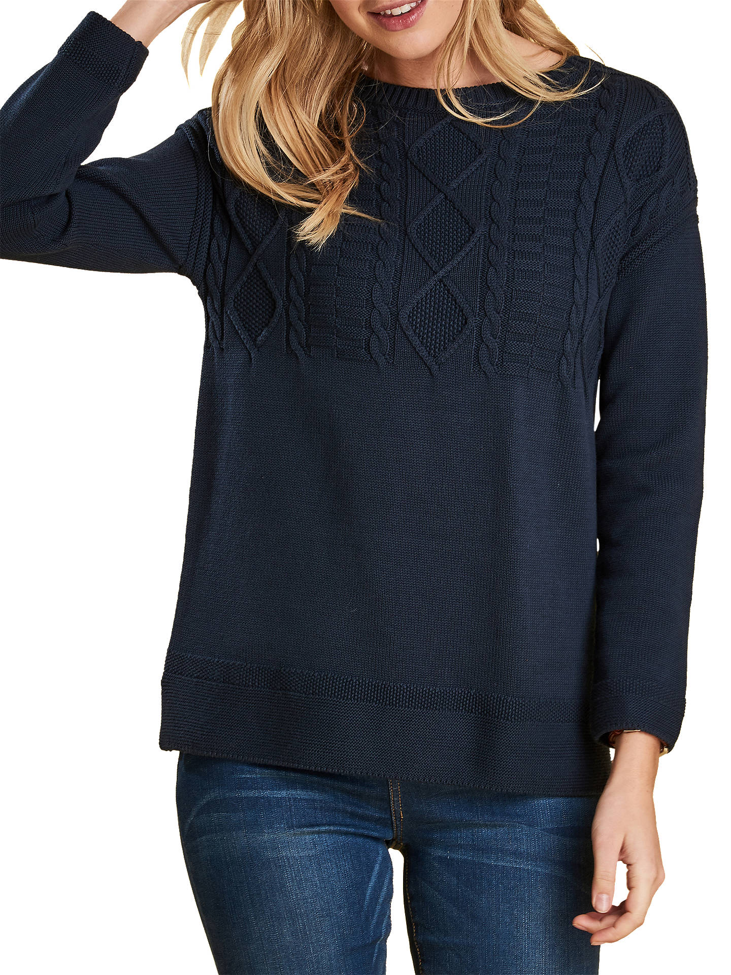52d8dd86bc5372 Buy Barbour Weymouth Jumper, Navy, 8 Online at johnlewis.com ...