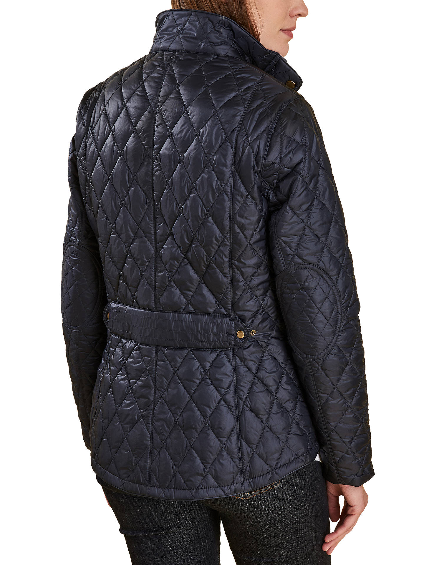 BuyBarbour Victoria Liberty Quilted Jacket, Navy, 8 Online at johnlewis.com