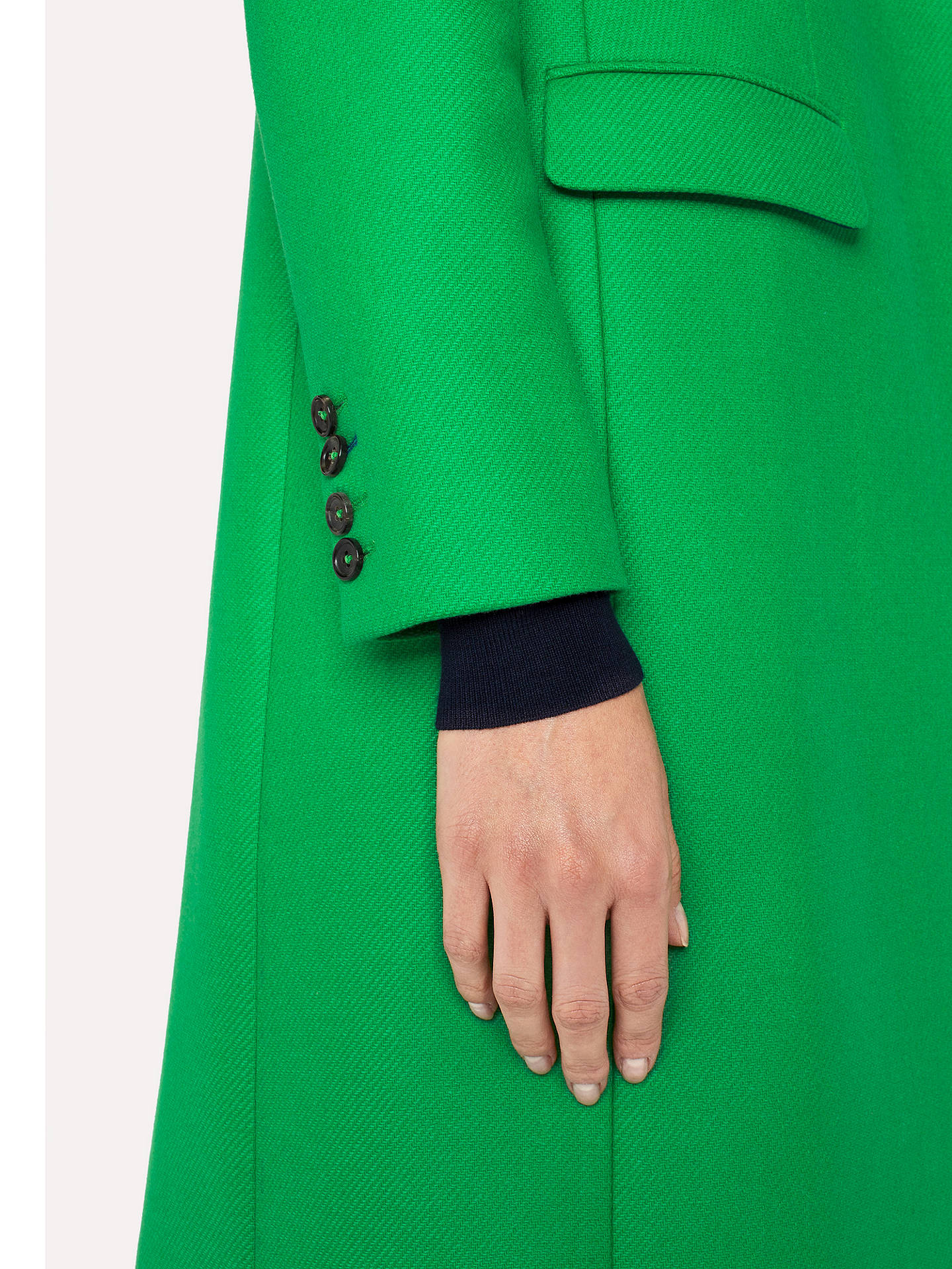 Buy PS Paul Smith Epsom Wool Blend Coat, Green, 8 Online at johnlewis.com