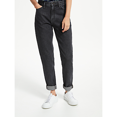 Lee Mom Straight Relaxed Leg Jeans, Black Stone