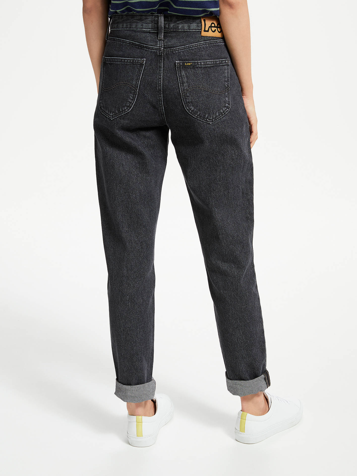 00c5e4df ... Buy Lee Mom Straight Relaxed Leg Jeans, Black Stone, W27/L31 Online at  ...