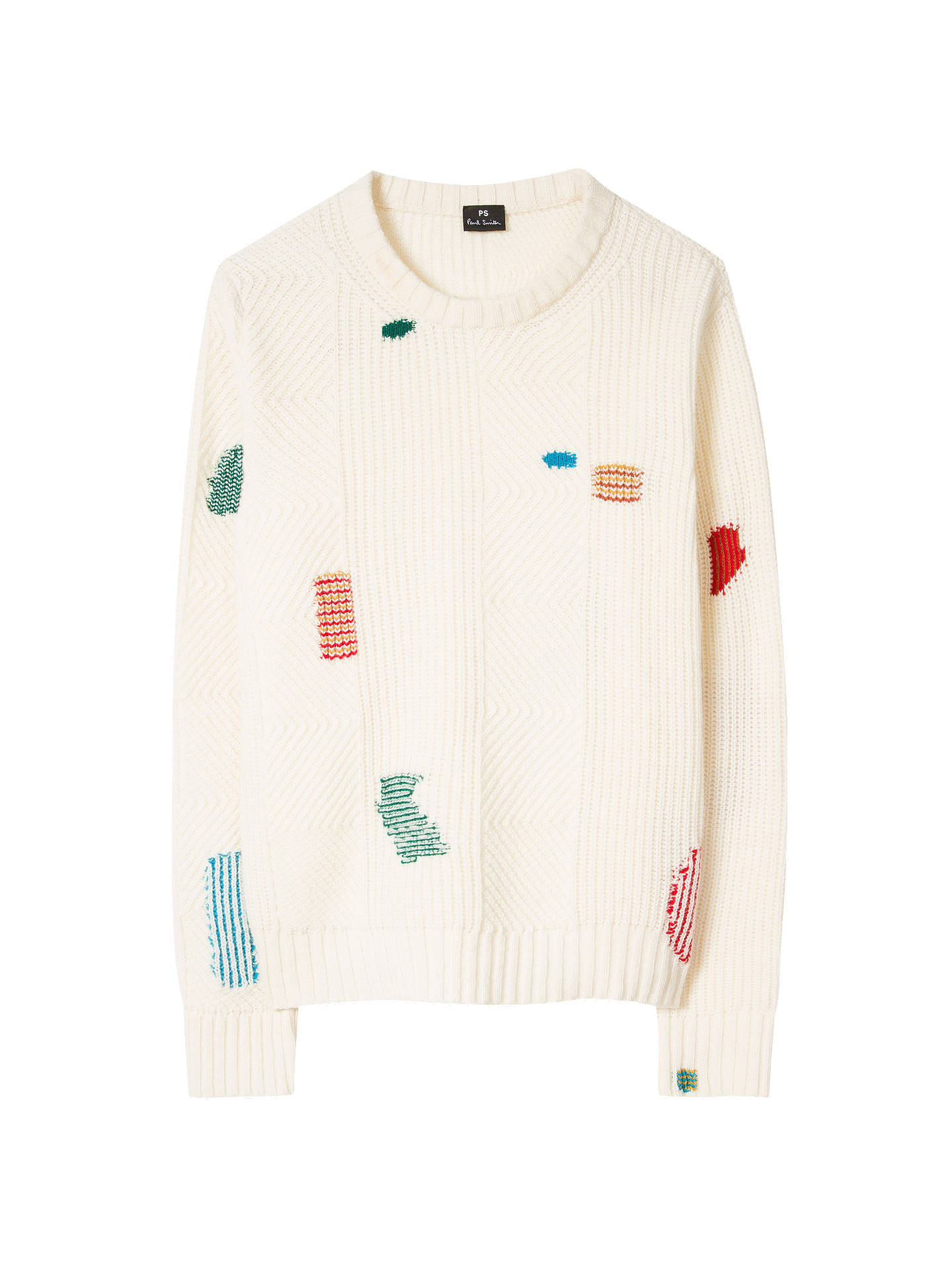 Buy PS Paul Smith Patchwork Jumper, Neutral, XS Online at johnlewis.com