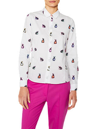 Buy PS Paul Smith Multi Colour Rabbit Print Shirt, White/Multi, 8 Online at johnlewis.com