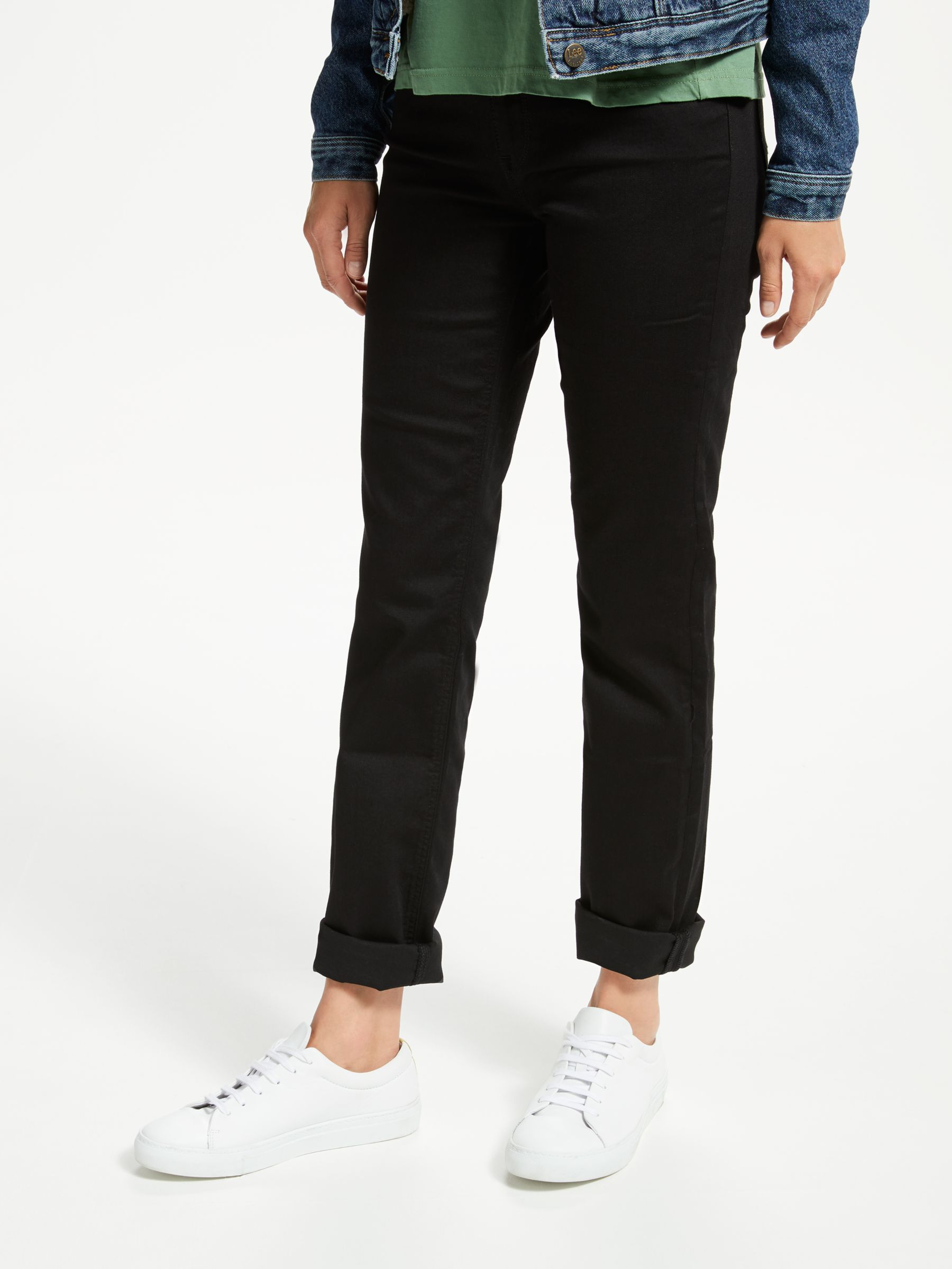 Lee Lee Marion High Rise Straight Leg Jeans, Black Rinse