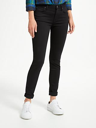 Lee Scarlett Regular Waist Skinny Jeans, Black Rinse