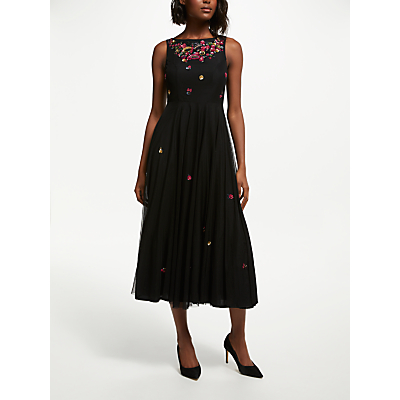 Bruce by Bruce Oldfield Embellished Dress, Black