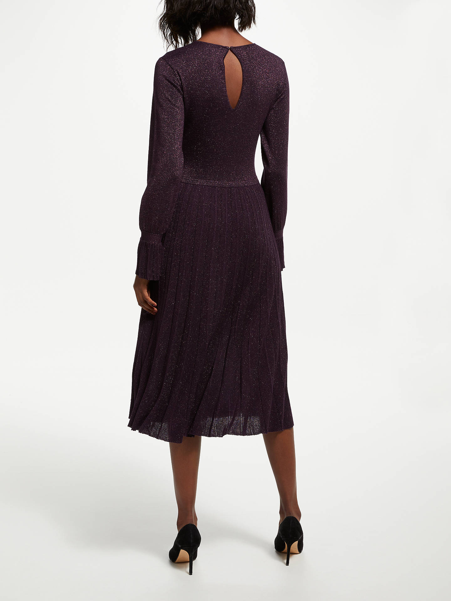 BuyBruce by Bruce Oldfield Knitted Dress, Purple, 8 Online at johnlewis.com