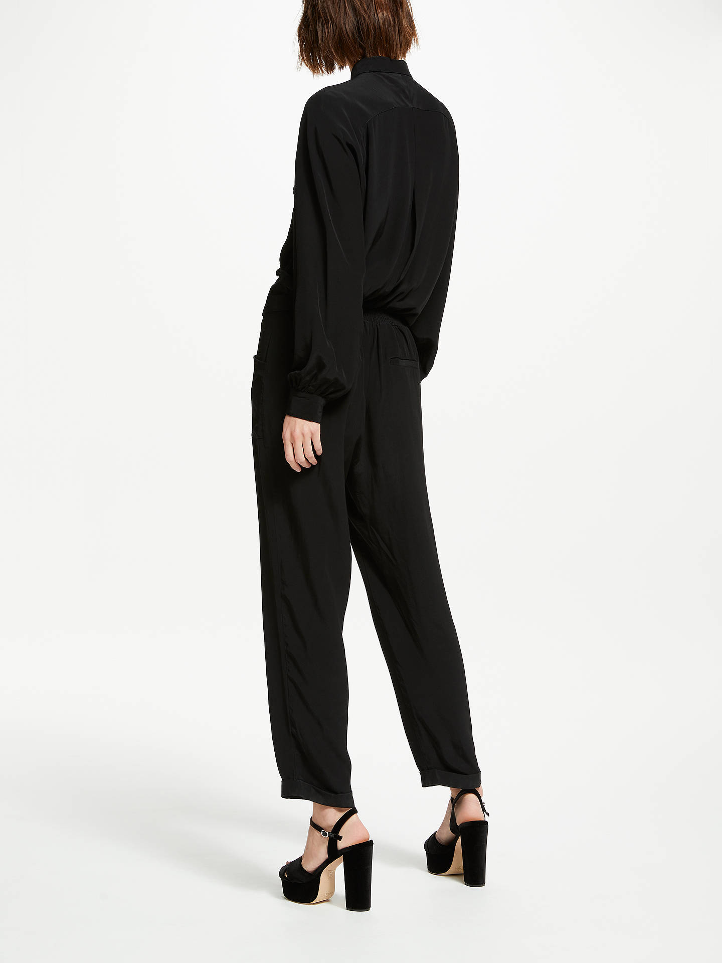Buy Somerset by Alice Temperley Shirt Jumpsuit, Black, 8 Online at johnlewis.com