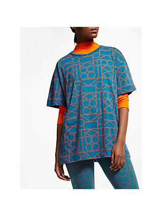 PATTERNITY + John Lewis Outline Signature Long T-Shirt, Teal