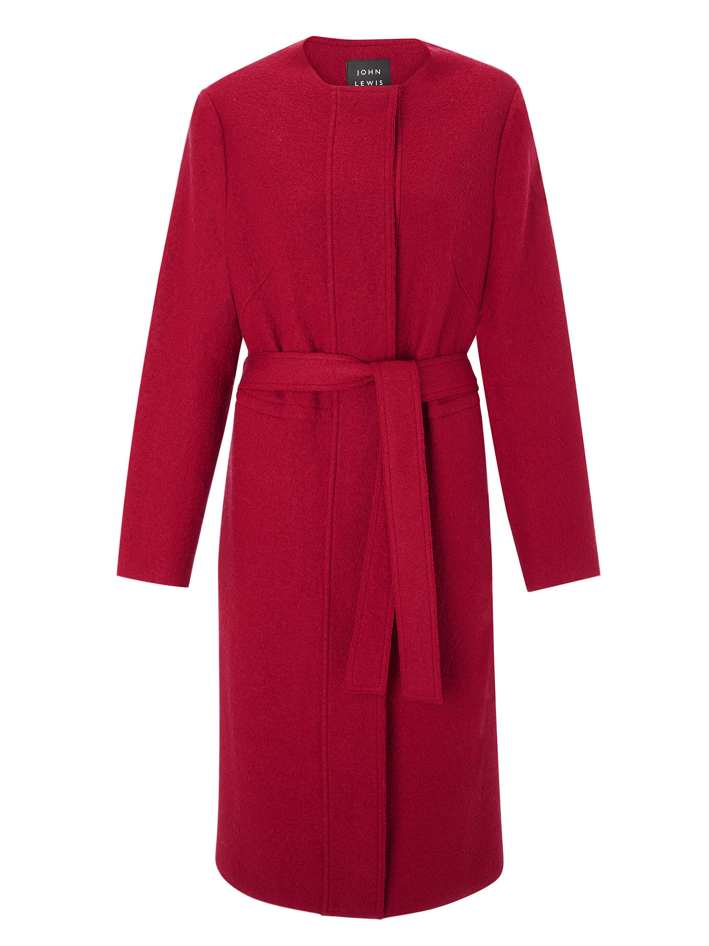 Buy John Lewis & Partners Wool Blend Coatigan, Raspberry, L Online at johnlewis.com
