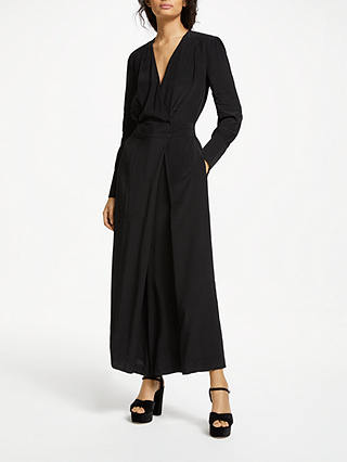 Buy Somerset by Alice Temperley Wrap Jumpsuit, Black, 8 Online at johnlewis.com