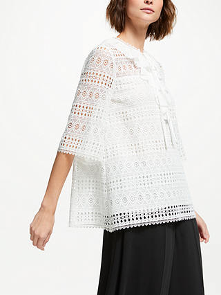 Buy Somerset by Alice Temperley Lace Top, Ivory, 8 Online at johnlewis.com