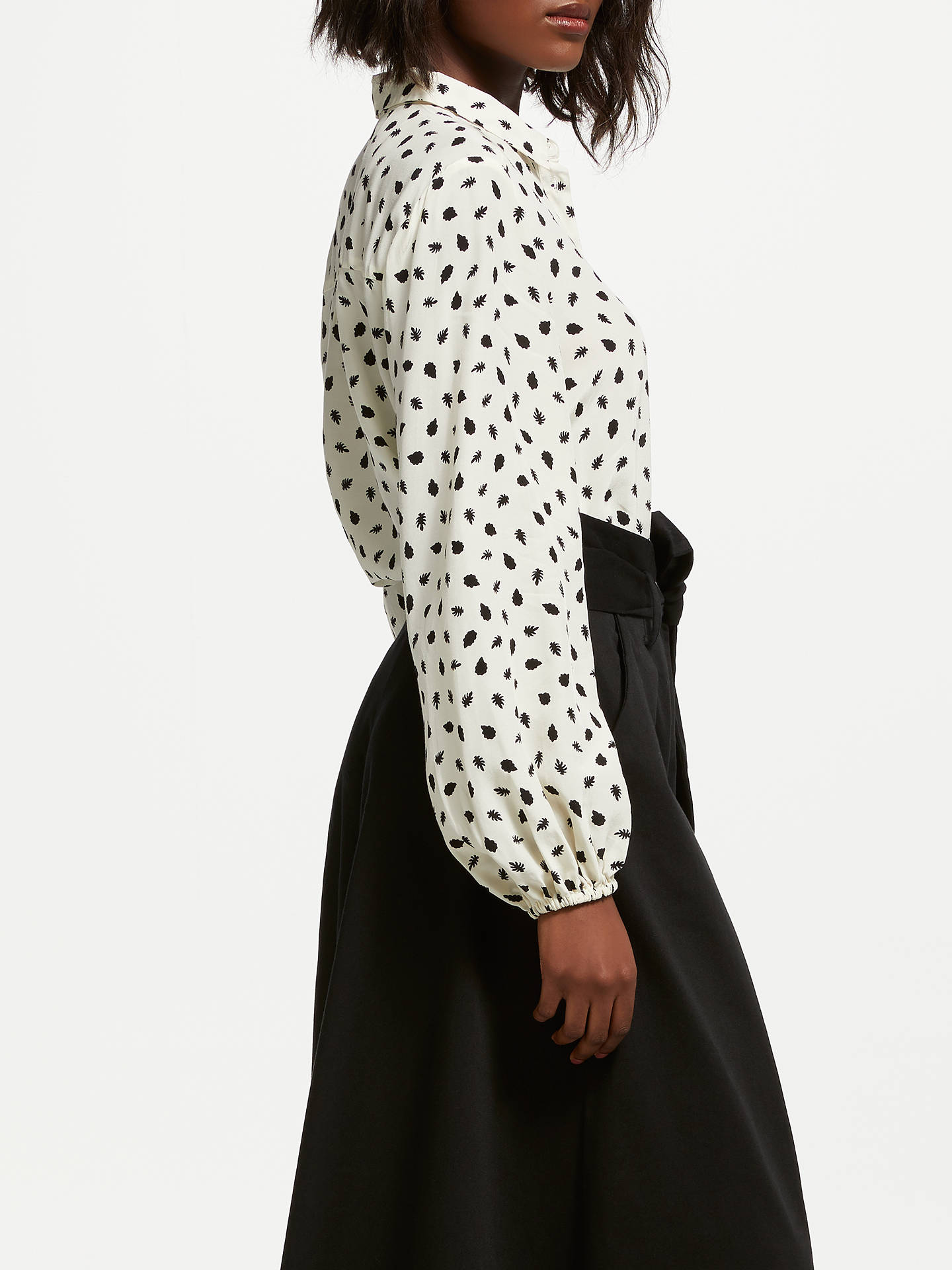 BuySomerset by Alice Temperley Acorn Button Blouse, Cream, 8 Online at johnlewis.com
