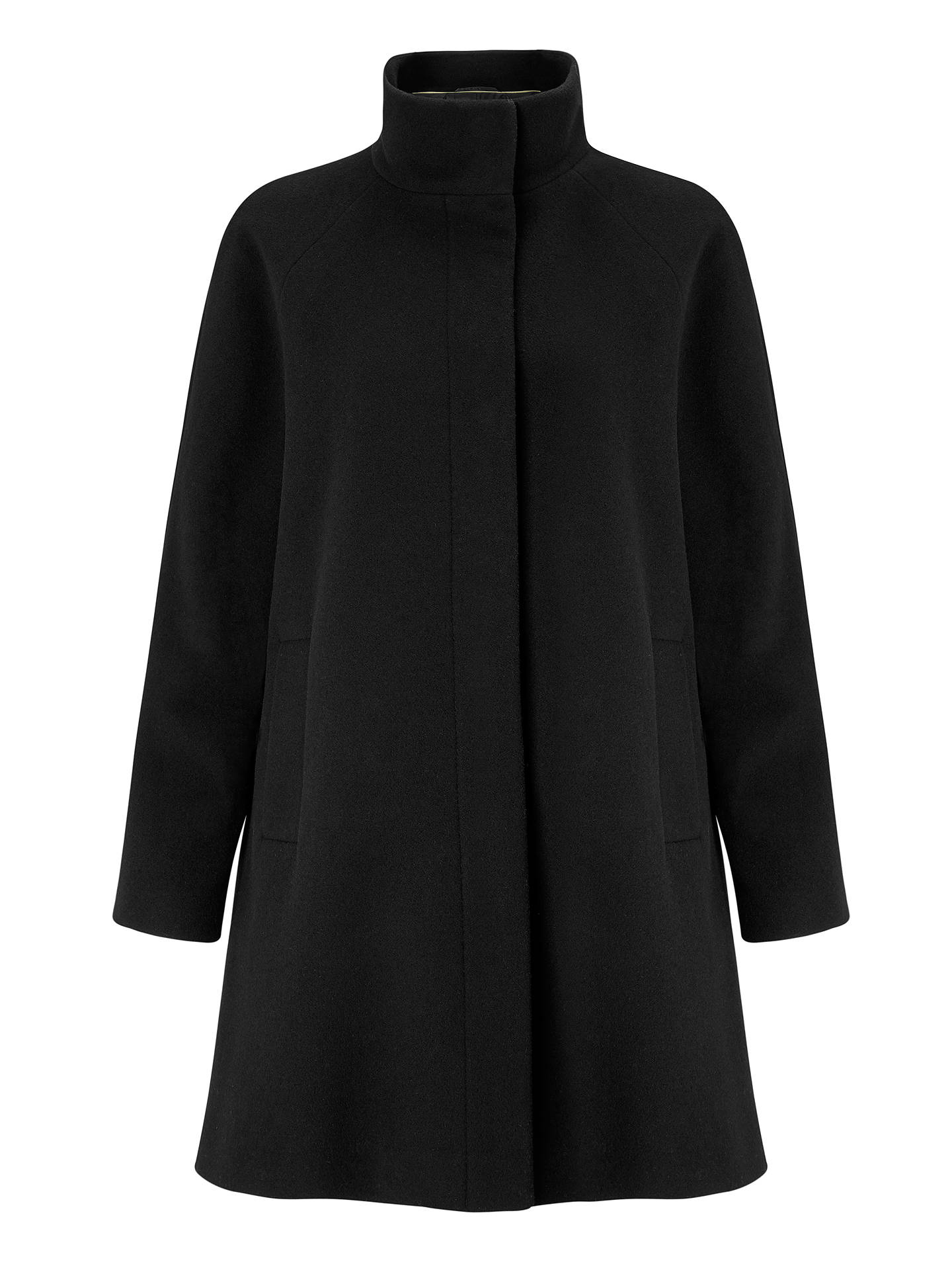 BuyJohn Lewis & Partners Funnel Neck Swing Coat, Black, 8 Online at johnlewis.com