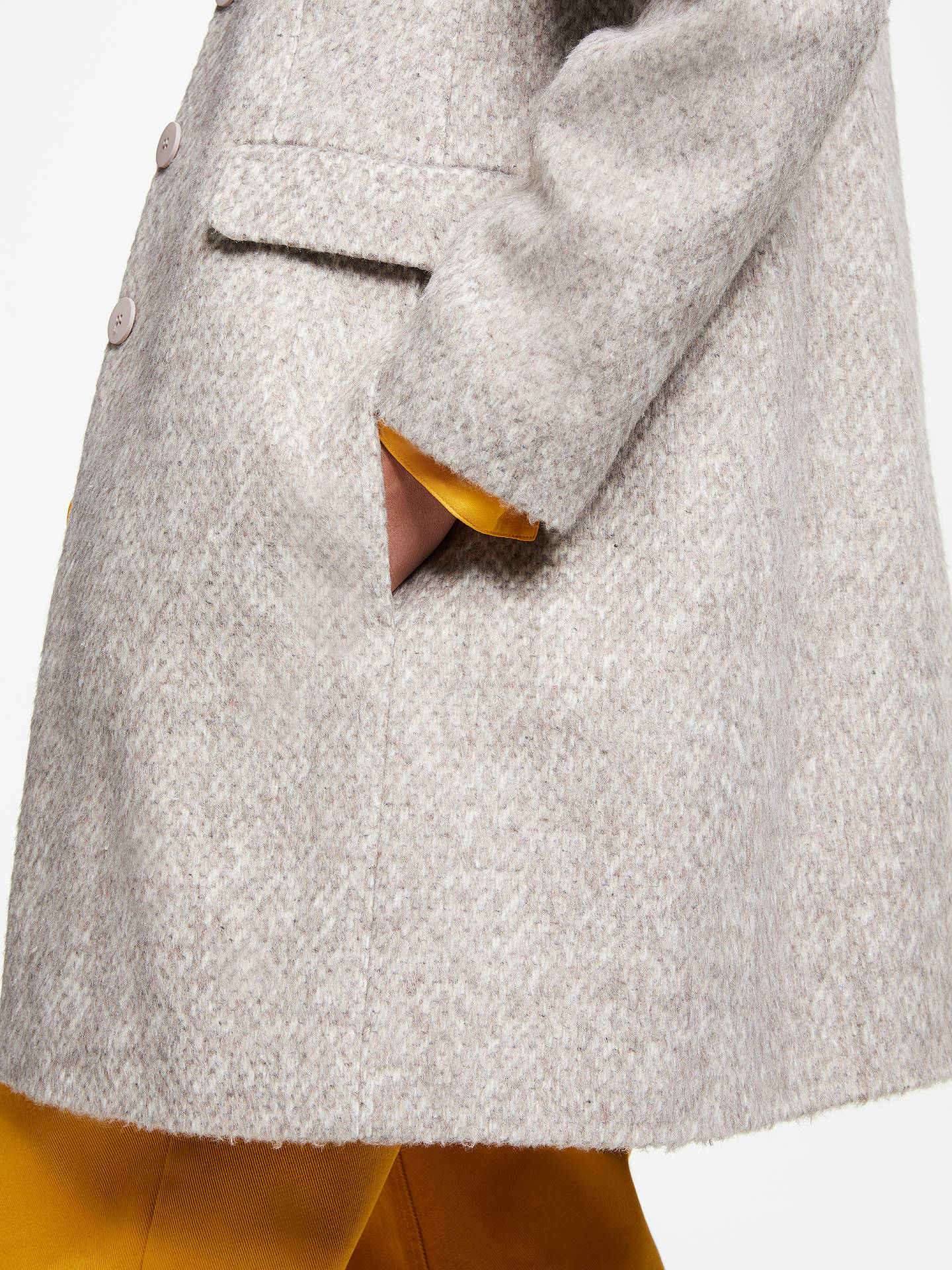 Buy John Lewis & Partners Funnel Coat, Camel, 8 Online at johnlewis.com