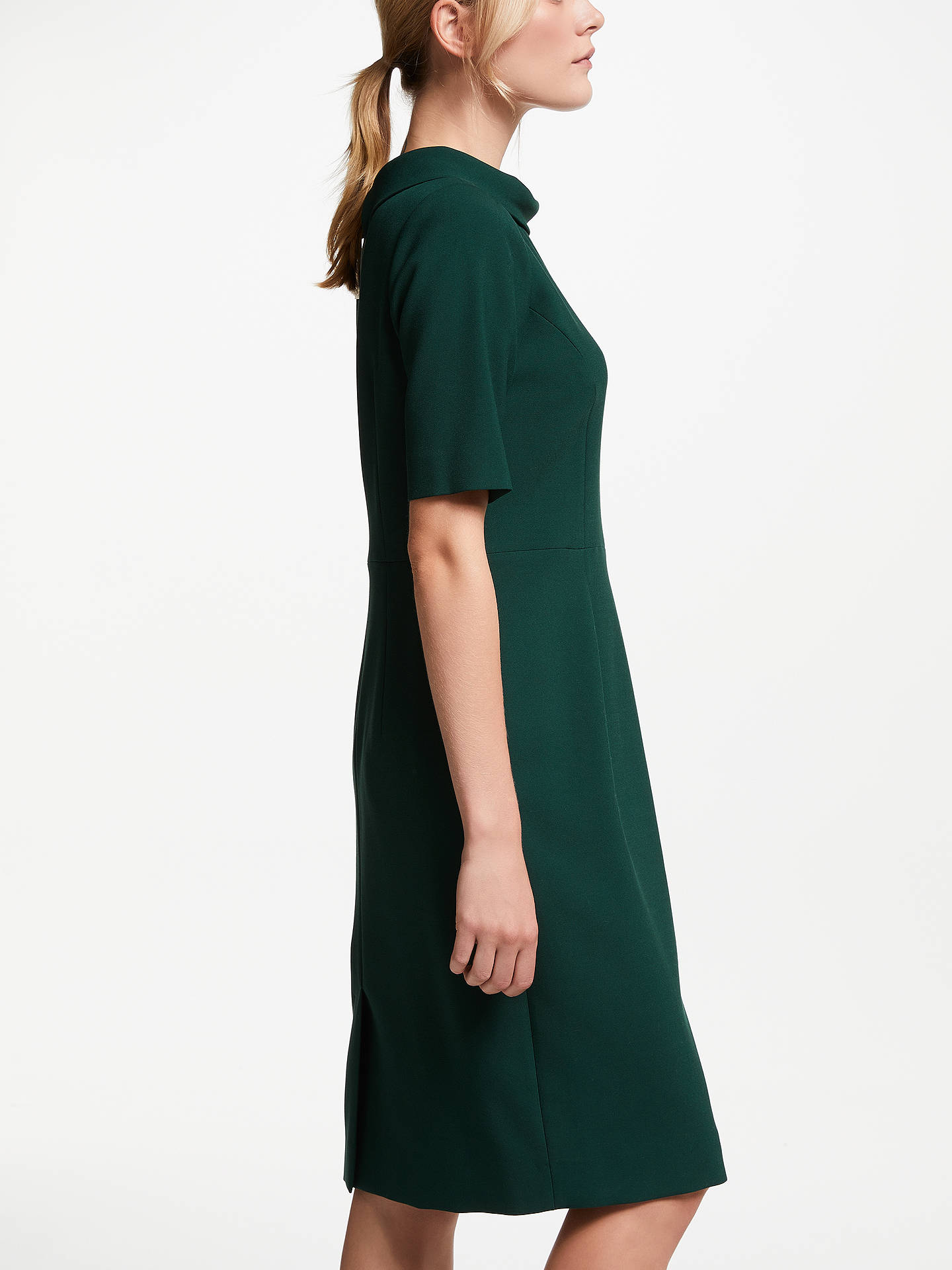 Buy Bruce by Bruce Oldfield Picture Collar Dress, Green, 8 Online at johnlewis.com
