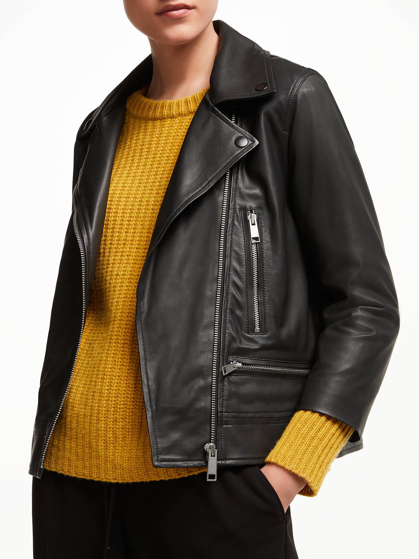 7184e34d5 John Lewis   Partners Leather Biker Jacket