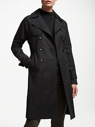 John Lewis & Partners Long Trench Coat