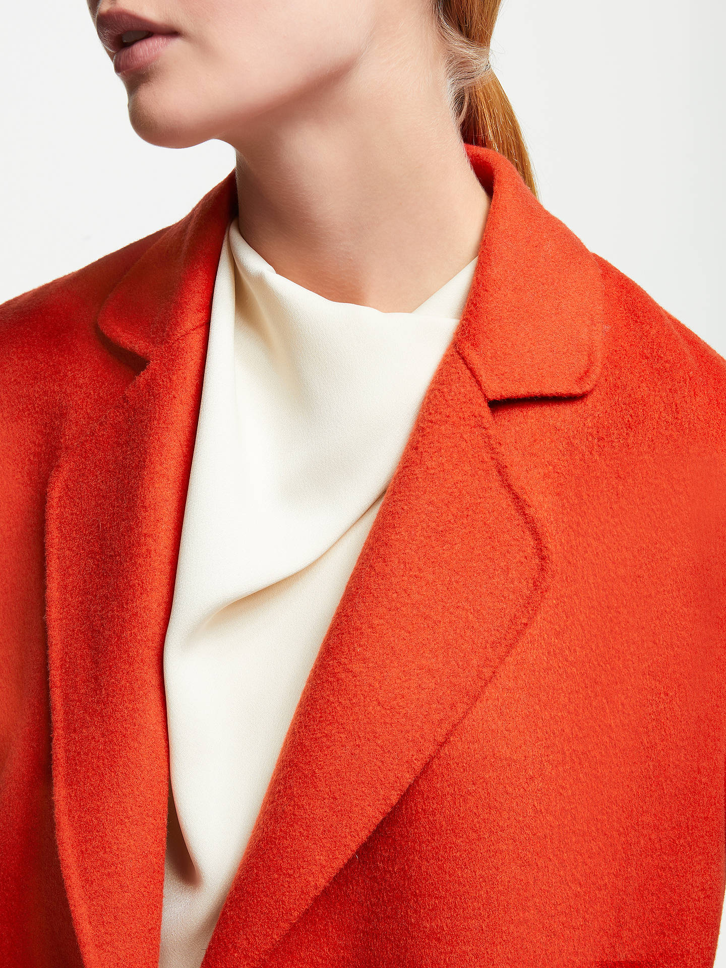 Buy John Lewis & Partners Double Faced Double Breasted Jacket, Orange, 12 Online at johnlewis.com