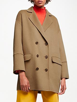 John Lewis & Partners Double Faced Double Breasted Jacket, Camel