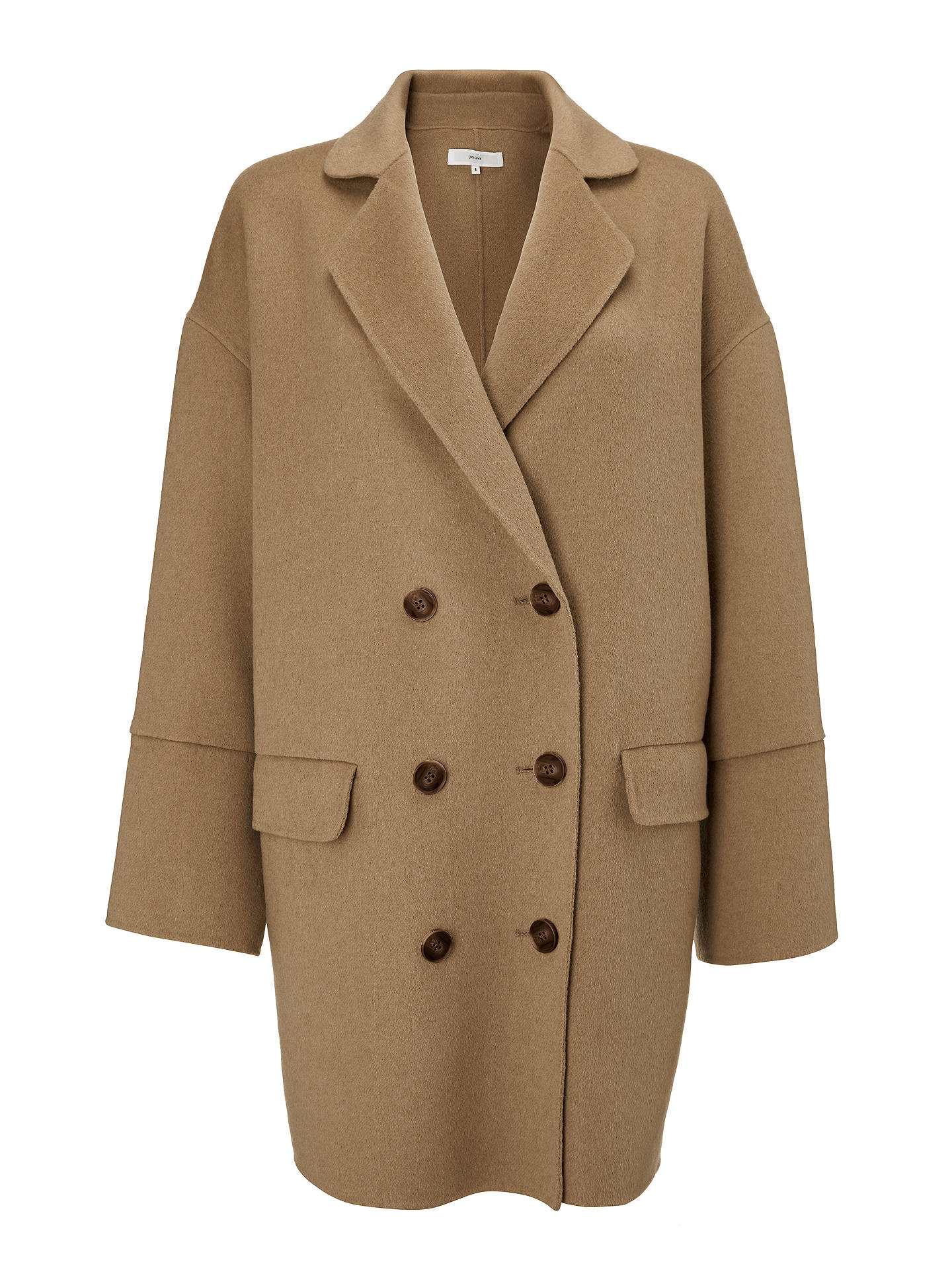 Buy John Lewis & Partners Double Faced Double Breasted Jacket, Camel, 16 Online at johnlewis.com