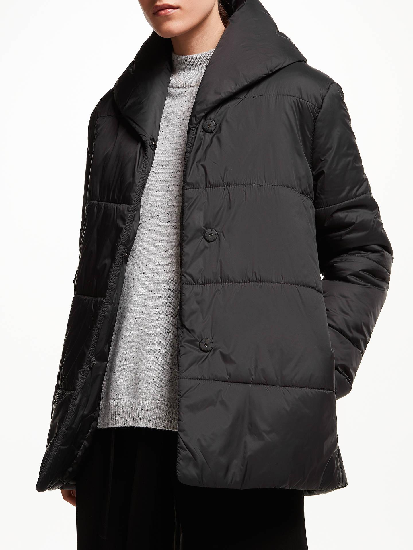 8586113e7 John Lewis & Partners Shawl Puffer Jacket, Black at John Lewis ...
