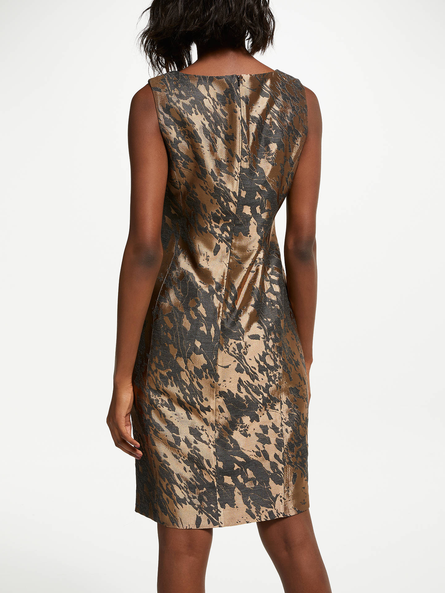 BuyBruce by Bruce Oldfield Jacquard Shift Dress, Bronze/Grey, 8 Online at johnlewis.com