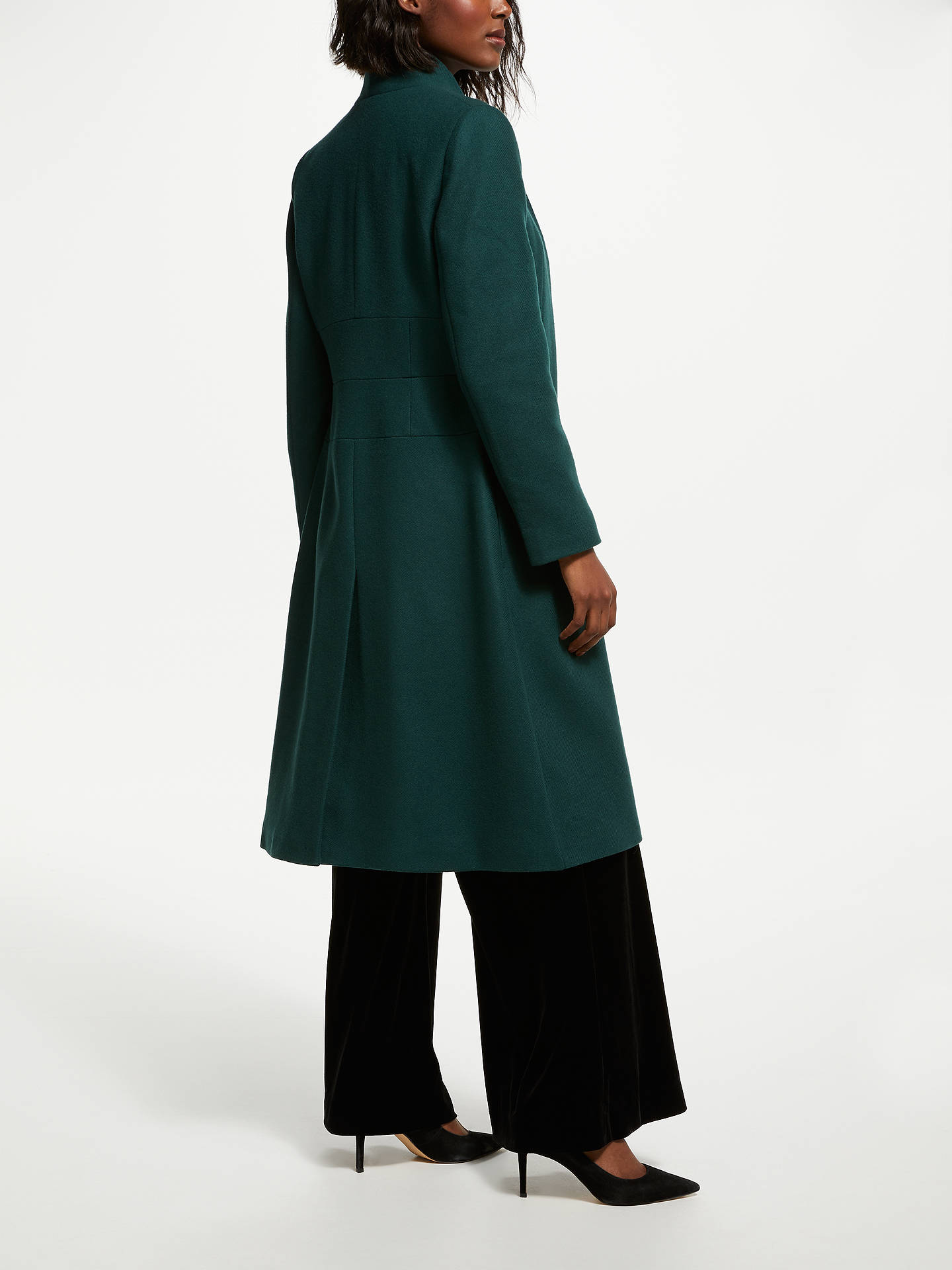 BuyBruce by Bruce Oldfield Funnel Coat, Green, 8 Online at johnlewis.com