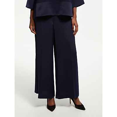 Bruce by Bruce Oldfield Satin Back Crepe Trousers, Dark Sapphire