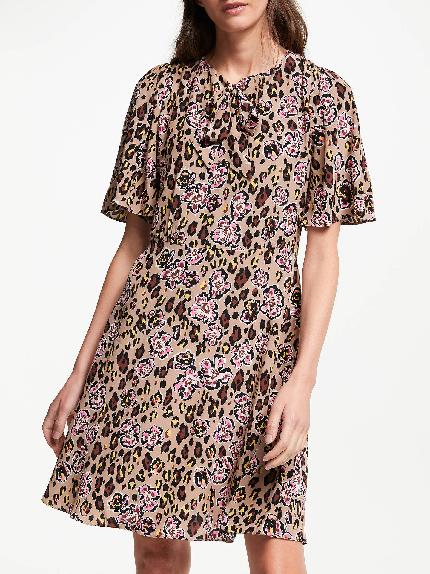 6e1d0013c3 BuySomerset by Alice Temperley Leopard Floral Tie Neck Dress