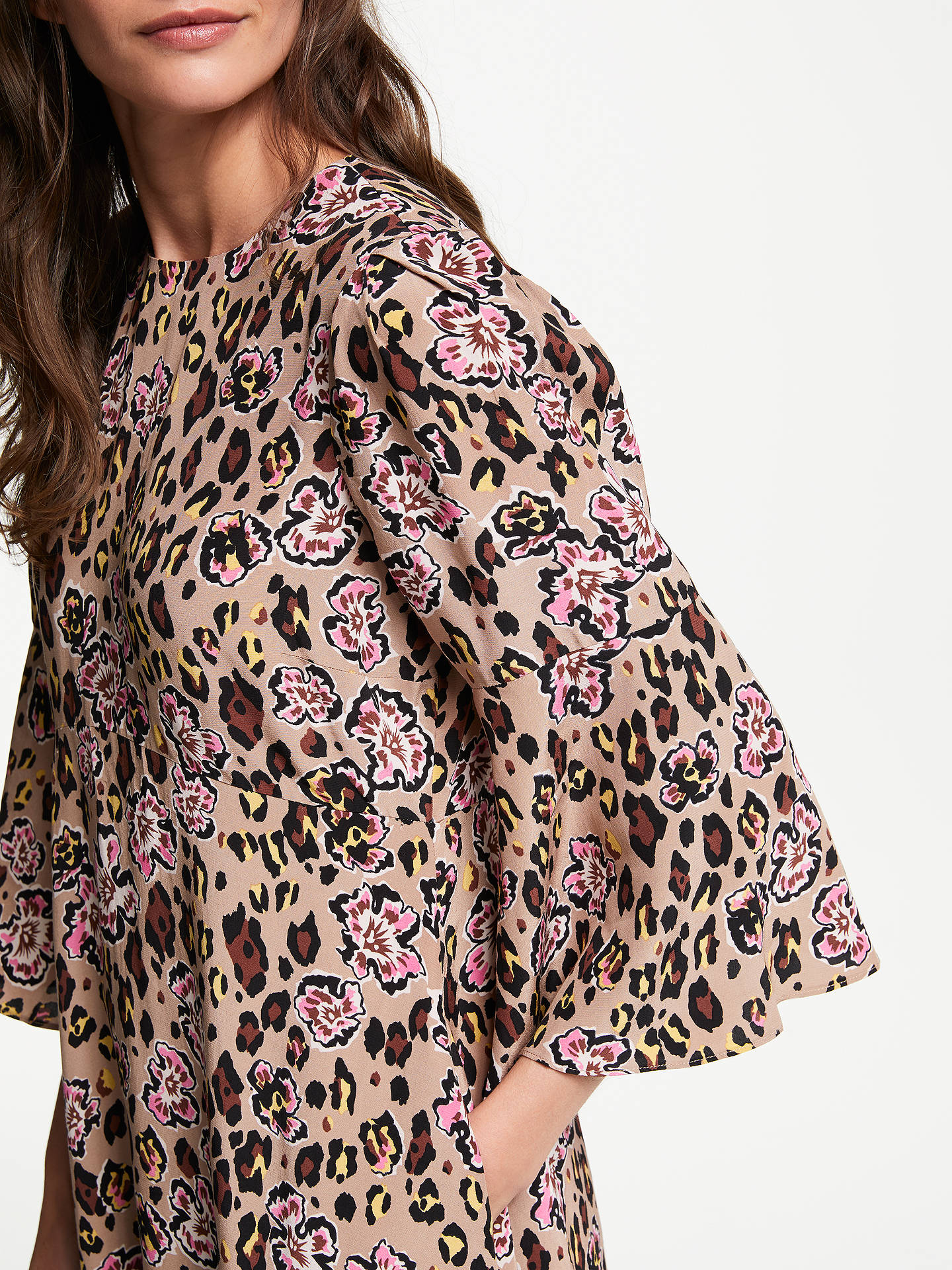 Buy Somerset by Alice Temperley Leopard Floral Midi Dress, Black/Multi, 8 Online at johnlewis.com