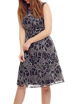 Studio 8 Nina Embroidered Dress, Navy
