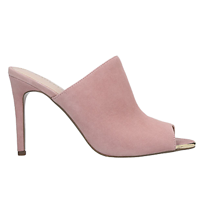 Carvela Graceful Peep Toe Mule Sandals, Pink Suede