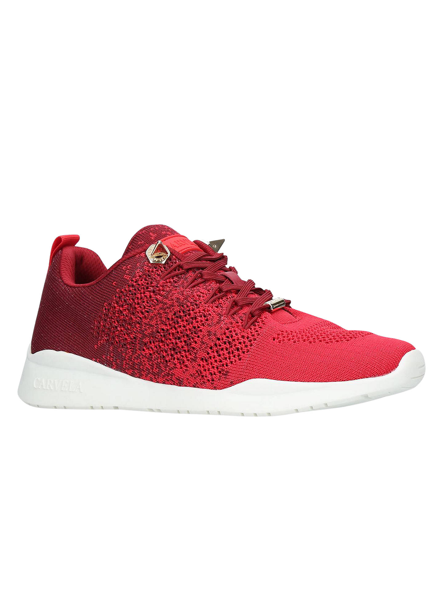 Buy Carvela Lolita Lace Up Trainers, Red, 3 Online at johnlewis.com