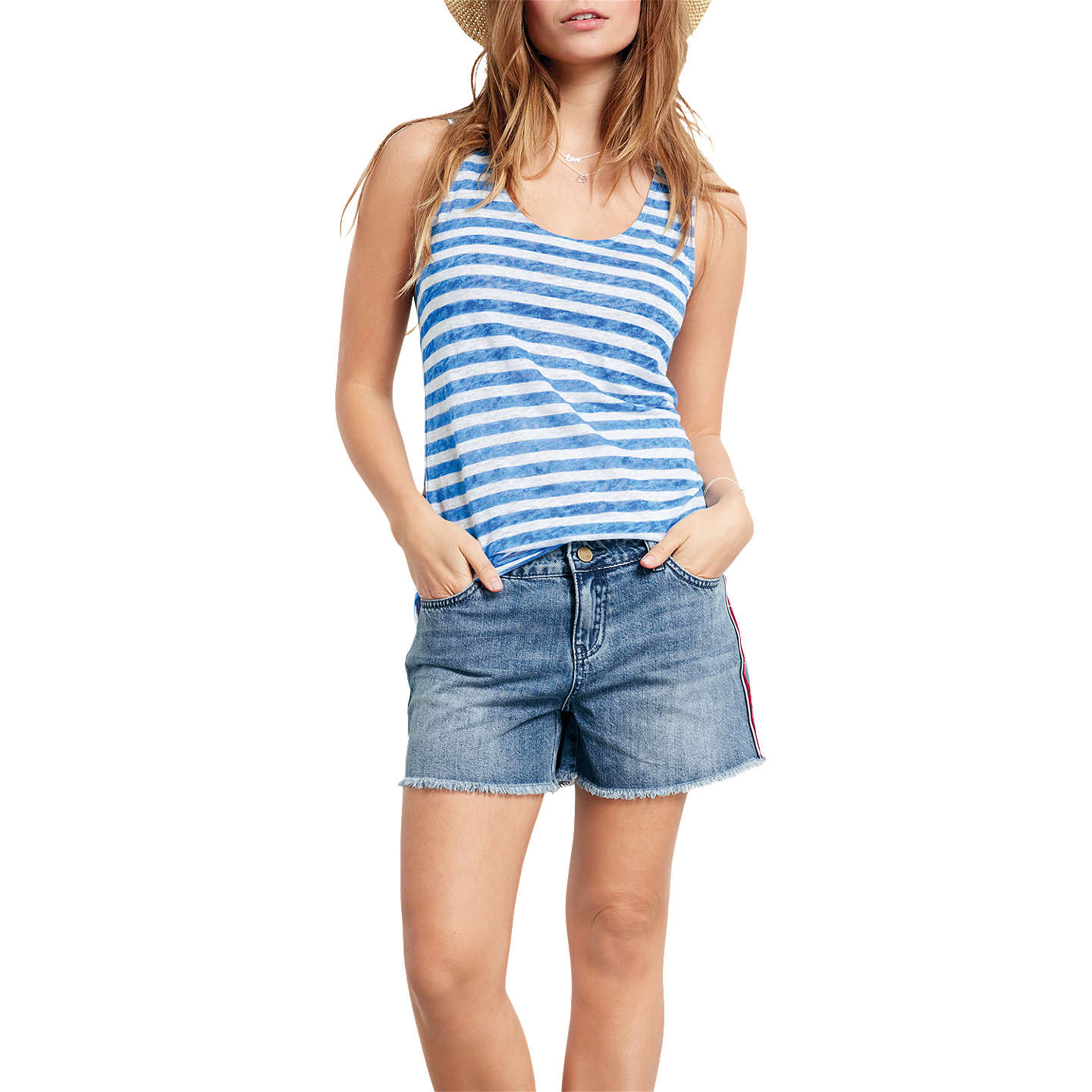 Hush Puppies Striped Jersey Vest Top Cheap Footlocker Cheapest Sale Online Discount How Much Supply Low Cost B89QZT93u