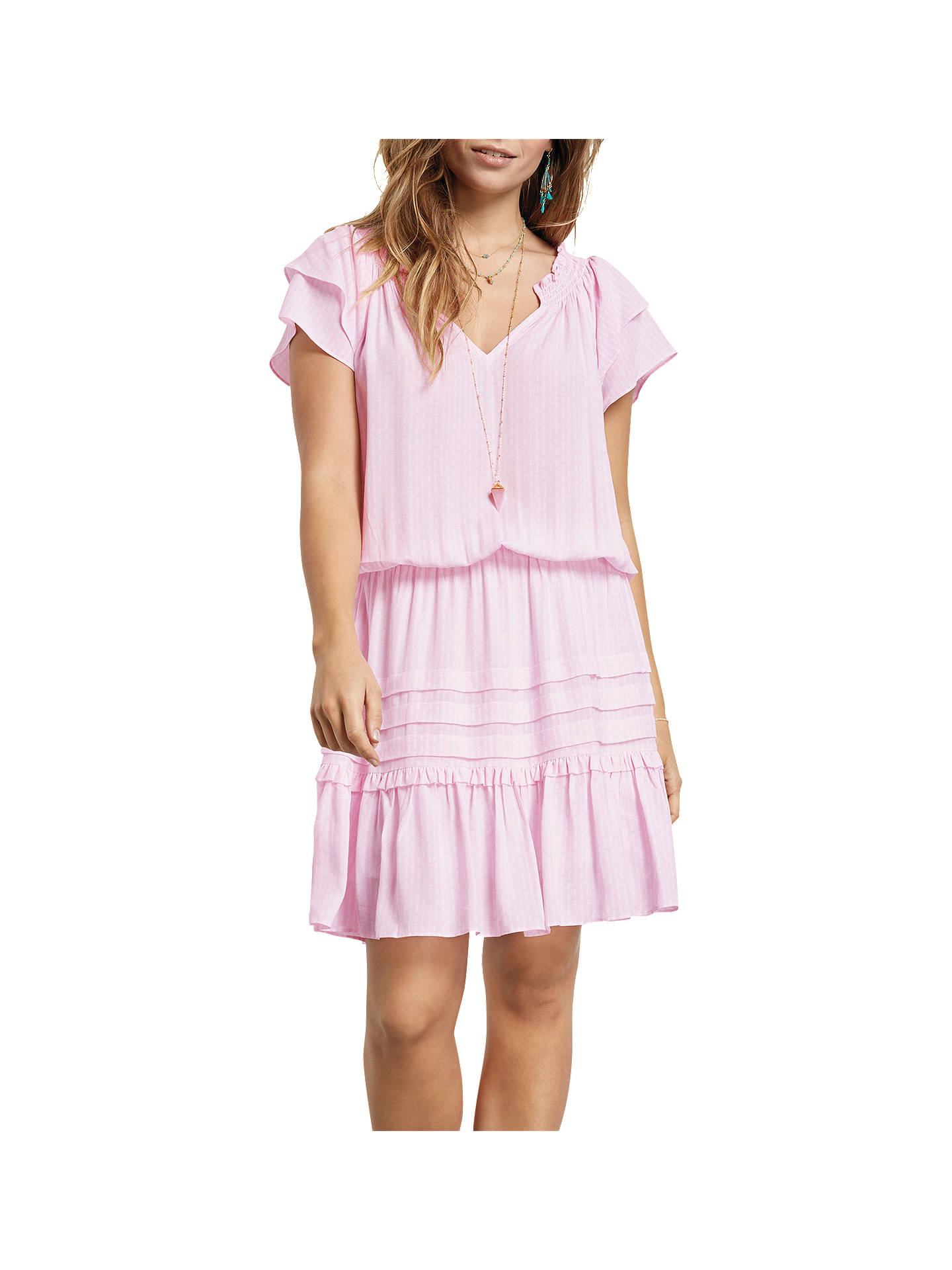 c6849fd41 Buy hush Nini V-Neck Dress, Pink, 10 Online at johnlewis.com ...