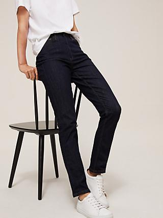 John Lewis & Partners Organic Cotton Rich Straight Leg Jeans