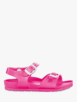 Birkenstock Children's Eva Neon Buckle Sandals, Pink