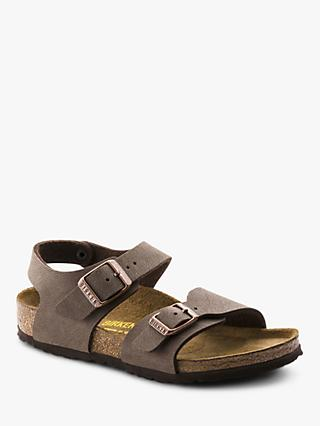 Birkenstock Children's Nubuck Sandals, Mocha