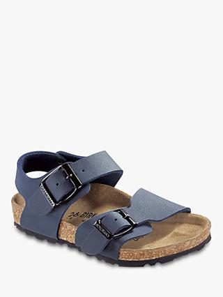 Birkenstock Children's New York Buckle Sandals, Navy