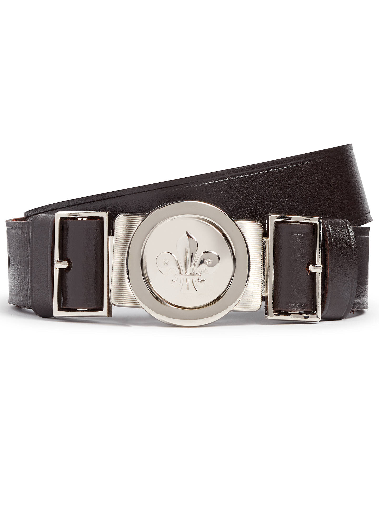 BuyScouts Leather Belt, Brown, L/XL Online at johnlewis.com