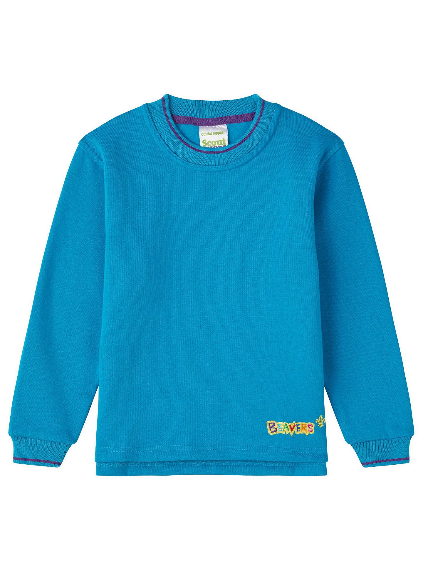 47b0f9c0 Buy Beavers Uniform Sweatshirt, Blue, Chest 28 Online at johnlewis.com
