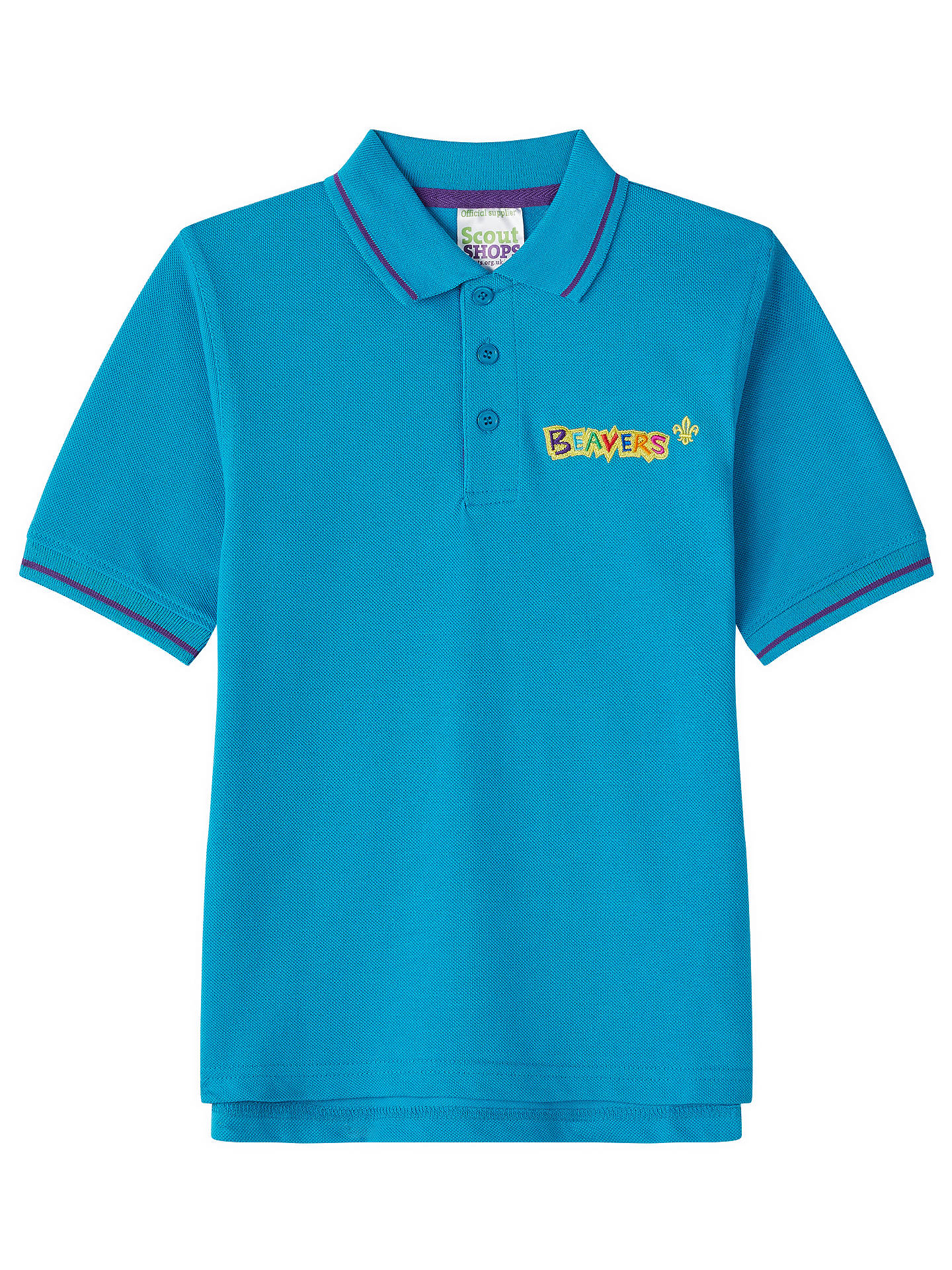 BuyBeavers Uniform Polo Shirt, Blue, Chest 28 Online at johnlewis.com