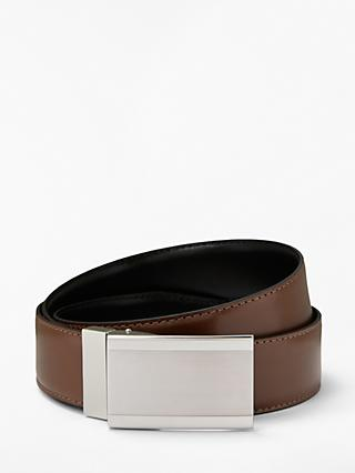 John Lewis & Partners Reversible Buckle Belt, Brown/Black