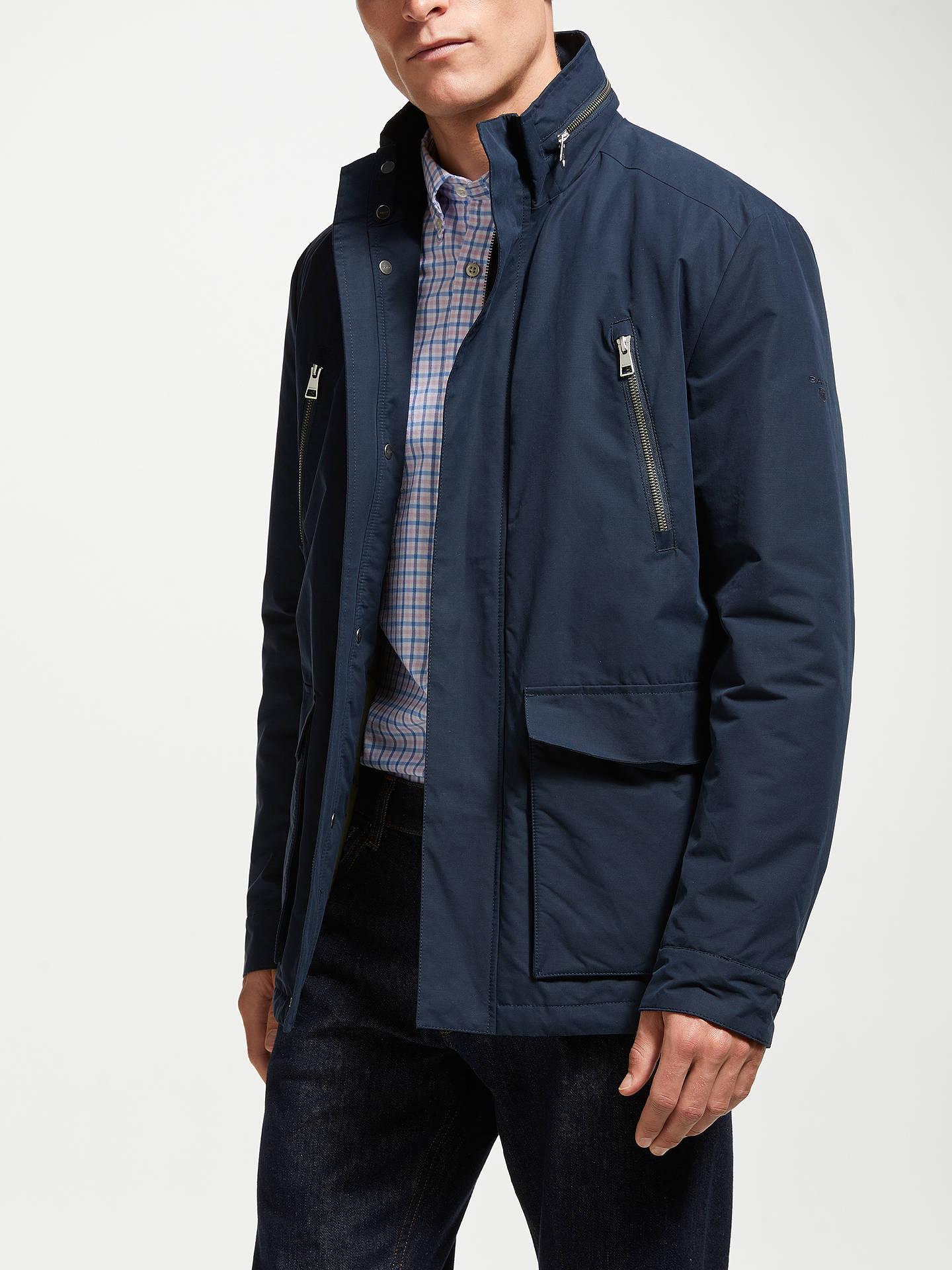 GANT Avenue Zip Hood Jacket, Blue 405 at John Lewis & Partners